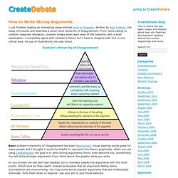 How to Write Strong Arguments at The CreateDebate Blog
