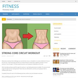 STRONG CORE CIRCUIT WORKOUT – FITNESS