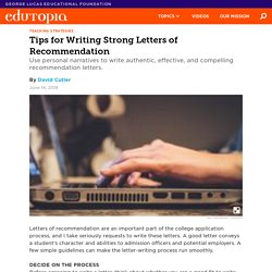 How to Write A Strong Letter of Recommendation