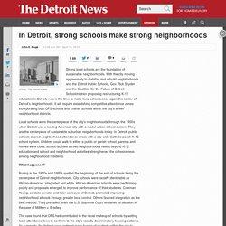 Mogk: Strong schools make strong neighborhoods