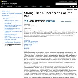 Strong User Authentication on the Web