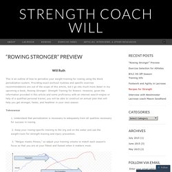 """Rowing Stronger"" Preview"