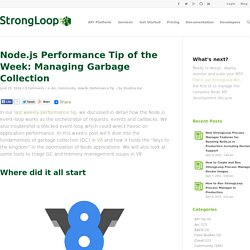 Node.js Performance Tip of the Week: Managing Garbage Collection