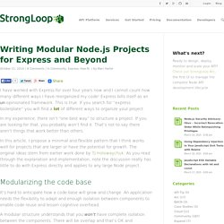 Writing Modular Node.js Projects for Express and Beyond