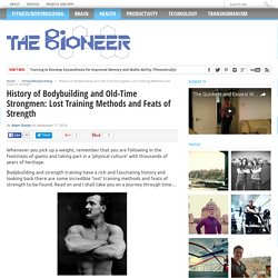 Old-Time Strongmen and the History of Bodybuilding