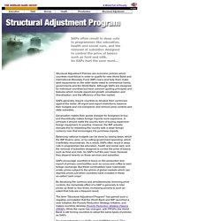 Structural Adjustment Program