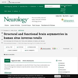 Structural and functional brain asymmetries in human situs inversus totalis