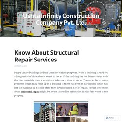 Know About Structural Repair Services