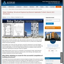 Rebar Detailing; the Indispensable Element of Structural Engineering
