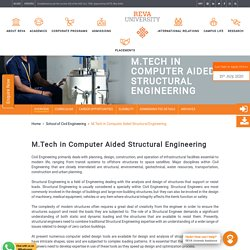 M.Tech in Computer Aided Structural Engineering