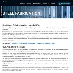 Structural Steel Fabrication Company in Florida, USA - Pavilion Structure