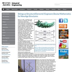 Strings as Structural Elements? Engineers Devise Mathematics for New Age Structures