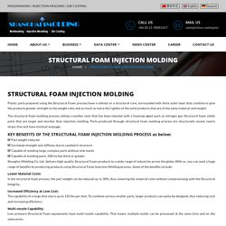 Low Pressure Molding & Structural Foam Injection Moldmaking Services