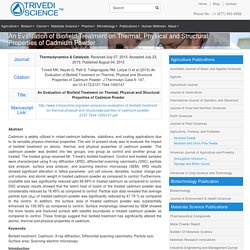 Mahendra Trivedi Biofield Energy Effect on Cadmium Powder