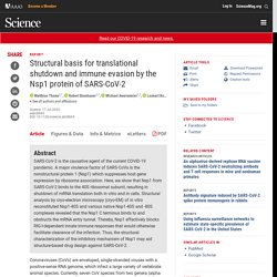 Structural basis for translational shutdown and immune evasion by the Nsp1 protein of SARS-CoV-2