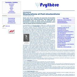 Structuralisme et Post-structuralisme