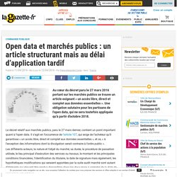 Open data et marchés publics : un article structurant mais au délai d'application tardif