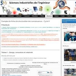 Exemples de fiches de structuration des connaissances – Cycle 4 » STI