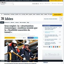 Sous-emploi: la «structuration économique» meilleur remède que la «flexibilité exacerbée du travail»