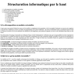 Structuration informatique par le haut