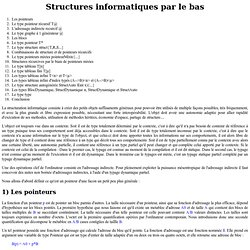 Structuration informatique par le bas