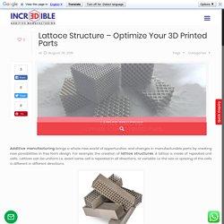 LATTICE STRUCTURE - OPTIMIZE YOUR 3D PRINTED PARTS - 3DIncredible