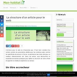 La structure d'un article pour le web