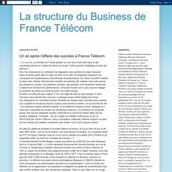 La structure du Business de France Télécom: Un an après l'affaire des suicides à France Télécom