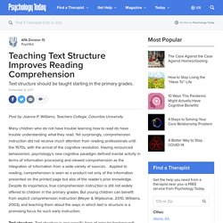 Teaching Text Structure Improves Reading Comprehension