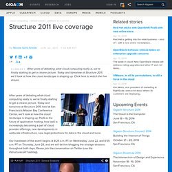 Structure 2011 live coverage — Cloud Computing News