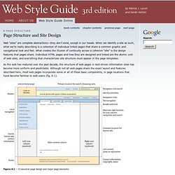 Page Structure and Site Design