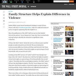 Family Structure Helps Explain Difference in Violence