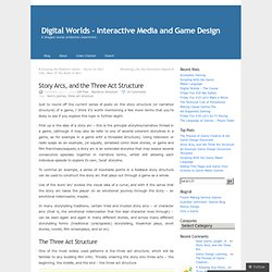 Story Arcs, and the Three Act Structure « Digital Worlds – Interactive Media and Game Design