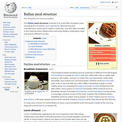 Italian meal structure