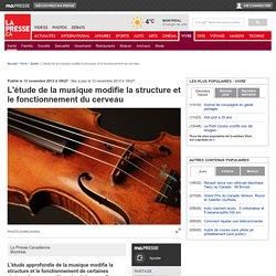 L'étude de la musique modifie la structure et le fonctionnement du cerveau