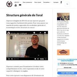 Structure générale de l'oral - Anglais - BTS CG