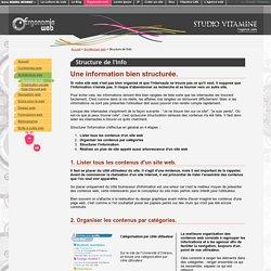Structure de l'info - arborescence - STUDIO VITA