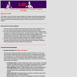 6.001 - Structure and Interpretation of Computer Programs - Fall 2005