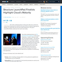 Structure LaunchPad Finalists Highlight Cloud's Maturity Cloud Computing News