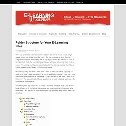 Folder Structure for Your E-Learning Files