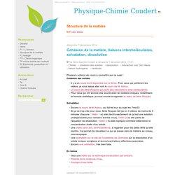 Structure de la matière - Physique-Chimie Coudert