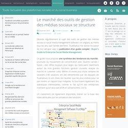 Le marché des outils de gestion des médias sociaux se structure
