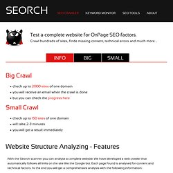 Crawler - OnPage SEO Tool - Search Engine Optimization
