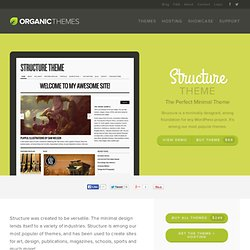 Structure Theme : WordPress Templates | Organic Themes