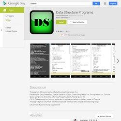 Programmes structure données