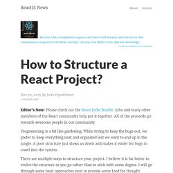 How to Structure a React Project? – ReactJS News
