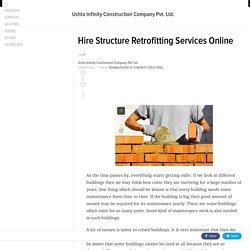 Hire Structure Retrofitting Services Online