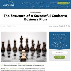 The Structure of a Successful Canberra Business Plan -