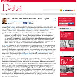 Big Data and Real-time Structured Data Analytics