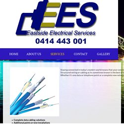 Data Cabling & Structured Wiring, Security Installation - Eastside Electrical Services